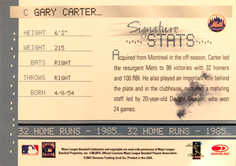 2001 Donruss Signature Stats Masters Series #7 Gary Carter