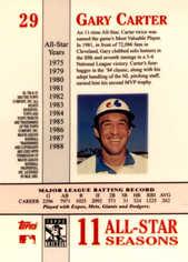 2003 Topps Tribute Perennial All-Star #29 Gary Carter