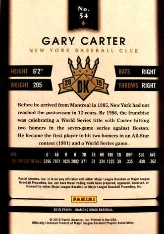 2015 Diamond Kings #54 Gary Carter