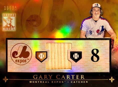 2010 Topps Tribute Relics Gold #GC Gary Carter/25