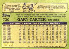 2005 Topps All-Time Fan Favorites Originals Relics #GC Gary Carter Bat 82/50