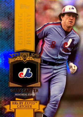 2013 Topps Chasing History Holofoil Gold #CH65 Gary Carter S