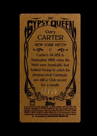 2015 Topps Gypsy Queen Mini Gold #320 Gary Carter SP/99