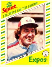 1982 Squirt #19 Gary Carter