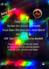 2004 Topps Clubhouse Frozen Ropes Relics #GC Gary Carter Jkt/50