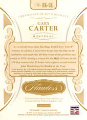 2018 Panini Flawless Bat Knobs #6 Gary Carter 1/1