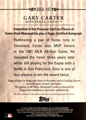 2009 Topps Sterling Career Chronicles Relic Triple Autographs #147 Gary Carter/10