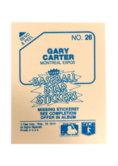 1985 Fleer Star Stickers #26 Gary Carter