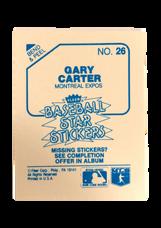1985 Fleer Star Stickers #26 Gary Carter