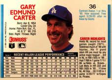 1992 Donruss #36 Gary Carter