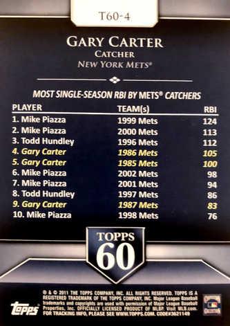 2011 Topps 60 #4 Gary Carter