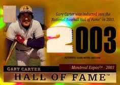 2004 Topps Tribute HOF Relics Gold #GCU Gary Carter Expo/25