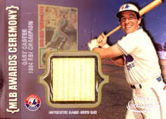 2002 Topps Gold Label MLB Awards Ceremony Relics Platinum #GC Gary Carter RBI Ba