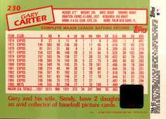 2002 Topps Archives Reserve Autographs #TRAGC Gary Carter 85 B