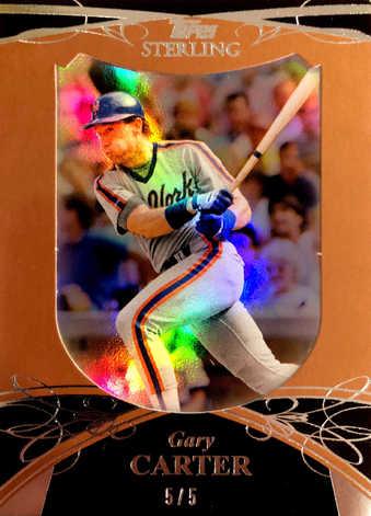 2010 Topps Sterling Framed Gold #114 Gary Carter/5