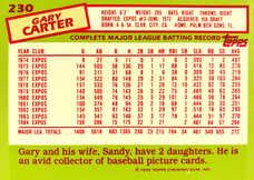 1985 Topps Tiffany #230 Gary Carter/5000
