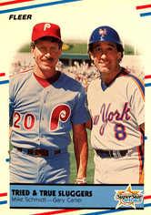 1988 Fleer #636 Mike Schmidt/Gary Carter