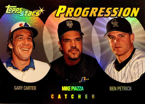2000 Topps Stars Progression #P2 Carter/Piazza/Petrick