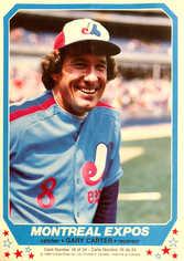 1982 O-Pee-Chee Mini Posters #16 Gary Carter