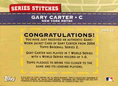 2004 Topps Series Stitches Relics #GC Gary Carter Jkt