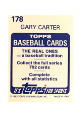 1983 Topps Stickers #178 Gary Carter