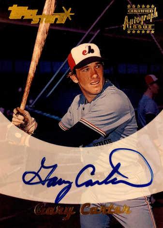 2000 Topps Stars Autographs #GC Gary Carter