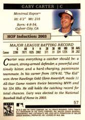 2004 Topps Tribute HOF #57 Gary Carter