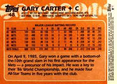 2005 Topps All-Time Fan Favorites #48 Gary Carter