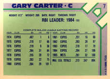 1986 Woolworth's Topps #7 Gary Carter