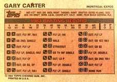 1984 Milton Bradley #5 Gary Carter