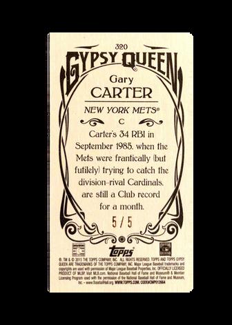2015 Topps Gypsy Queen Mini Black #320 Gary Carter SP/5