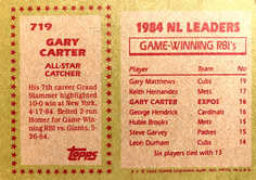 1985 Topps #719 Gary Carter AS