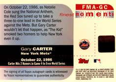 2003 Topps Finest Moments Refractors Autographs #GC Gary Carte