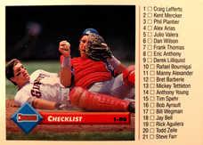 1993 Donruss #122 Checklist 1-80/Gary Carter/Kirt Manwaring