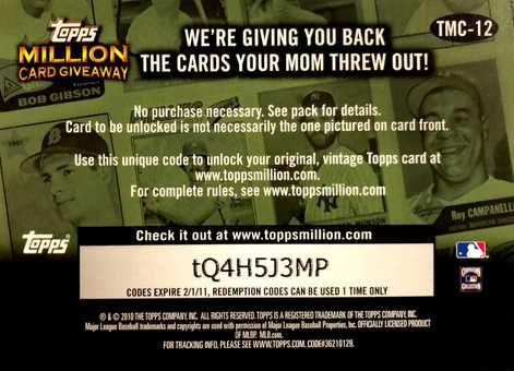2010 Topps Million Card Giveaway #TMC12  Gary Carter
