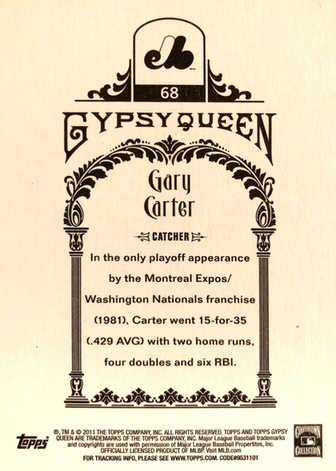 2011 Topps Gypsy Queen #68 Gary Carter