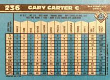 1990 Bowman #236 Gary Carter
