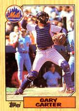 1987 Topps #20 Gary Carter
