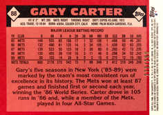 2003 Topps All-Time Fan Favorites Chrome Refractors #88 Gary Carter/299