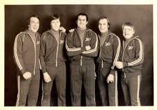 1976-1977 Penmans Sports Council Promo Postcard Gary Carter/Borje Salming/Peter Dalla Riva/Guy Lafleur/Coach/Instructor Howie Meeker