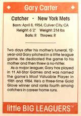 1990 Little Big Leaguers #8 Gary Carter