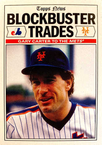 2019 Topps Reflection Blockbuster Trades #1 Gary Carter to the Mets