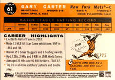 2017 Topps Archives Soft Red #61 Gary Carter/25