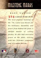 2001 Donruss Signature Milestone Marks Masters Series #10 Gary Carter