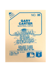 1985 Fleer Star Stickers #35 Gary Carter