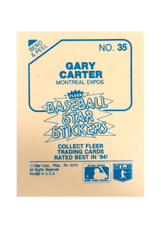 1985 Fleer Star Stickers #35 Gary Carter