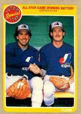 1985 Fleer #632 A-S Winning Battery/Gary Carter/Charlie Lea