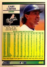 1992 Score #489 Gary Carter