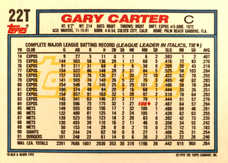 1992 Topps Traded Gold #22T Gary Carter