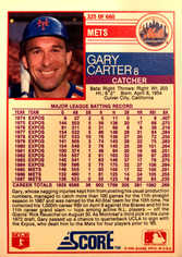 1988 Score #325 Gary Carter